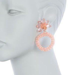 Kate Spade New York Flower Hoop Earrings